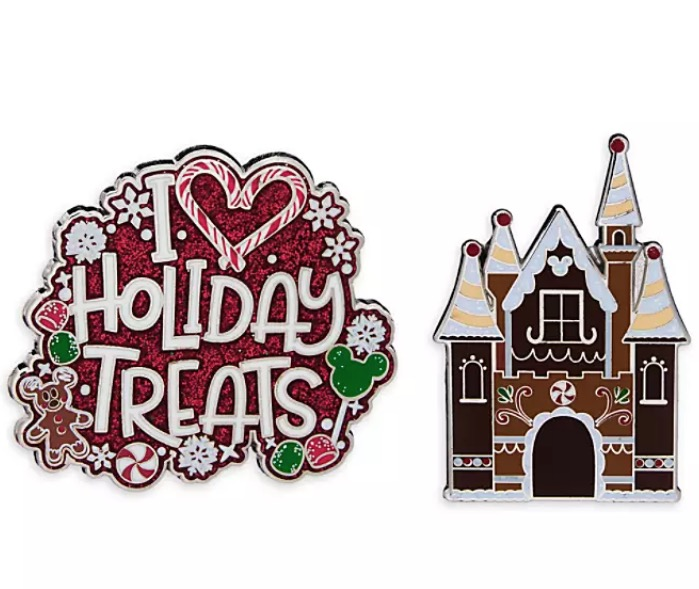 Disney Holiday Pin Set - I Love Holiday Treats - Set of 2