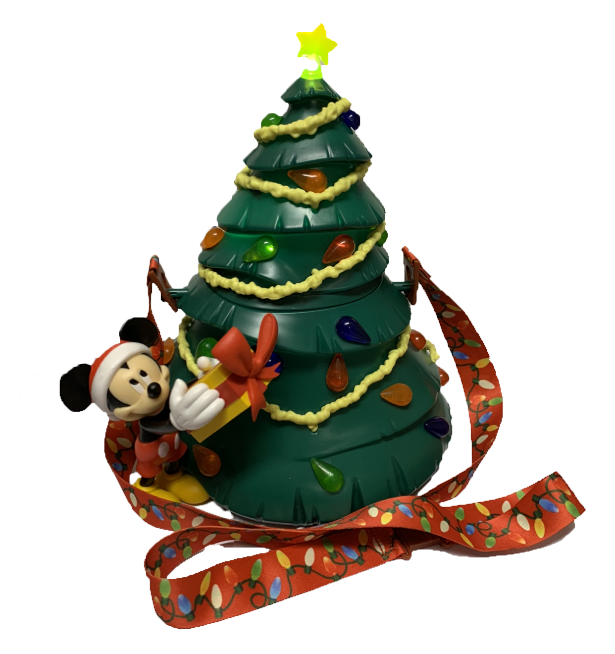 Disney Popcorn Bucket - Mickey Mouse Christmas Tree - Light Up