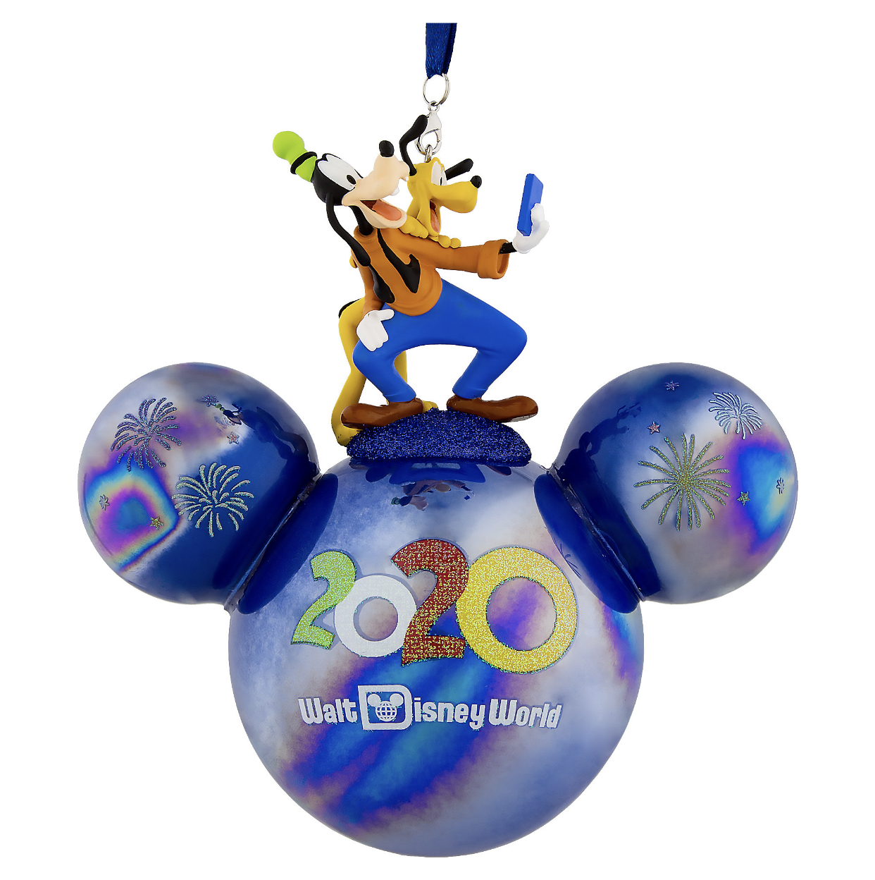Disney Mickey Ears Icon Ornament - 2020 Dated - Goofy and Pluto