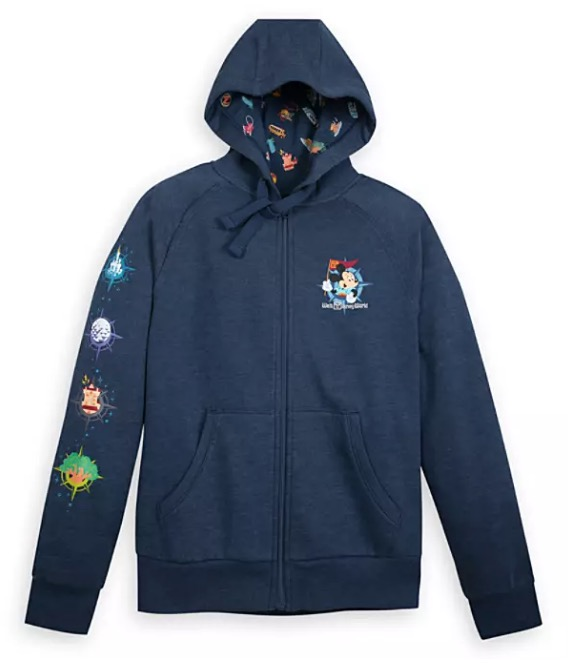 Disney Zip-Up Hoodie for Women - Mickey Mouse Map - Disney Park Life