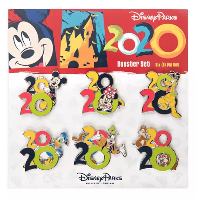 Disney 2020 Pin Trading Booster Set - Mickey Mouse and Friends