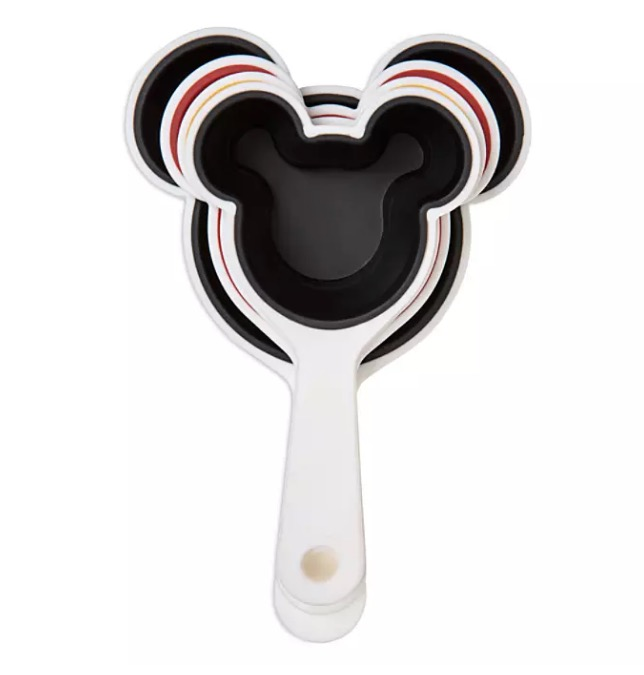 Disney Parks Mickey Mouse Ears Silicone Collapsible Measuring Cup Set of 4 Cups