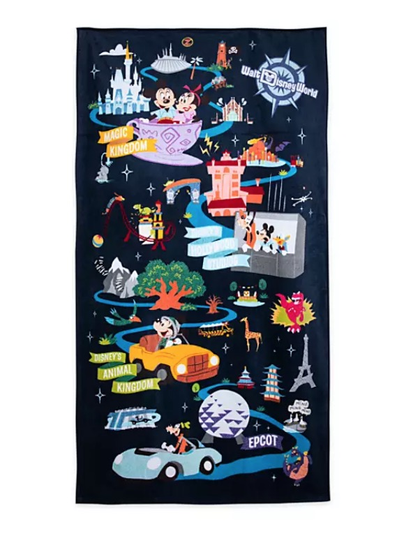 Disney Beach Towel - Mickey Mouse and Friends Park Life
