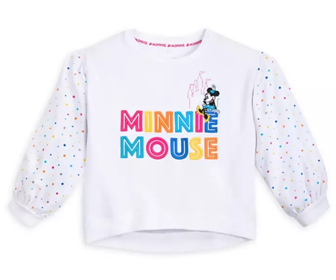 Disney Pullover Top for Girls - Fantastic 5 - Minnie Mouse - White