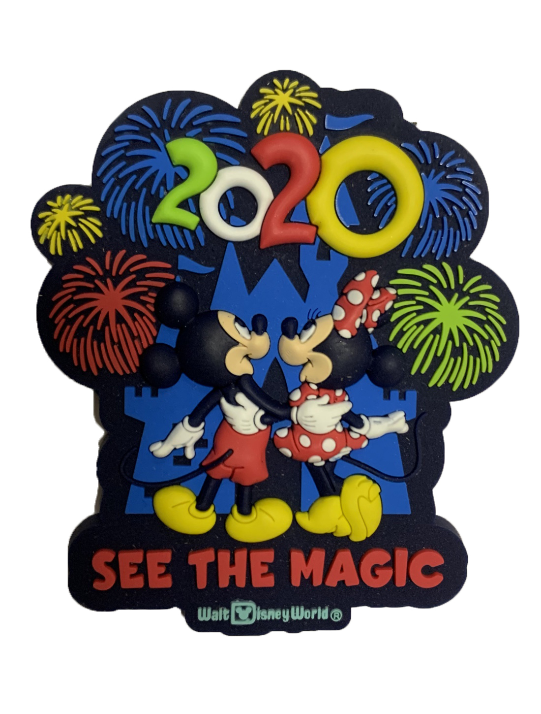 Disney Magnet - 2020 Mickey and Minnie Mouse - Rubber