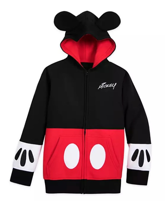 Disney Child Zip Hoodie - Mickey Mouse Costume with Ears