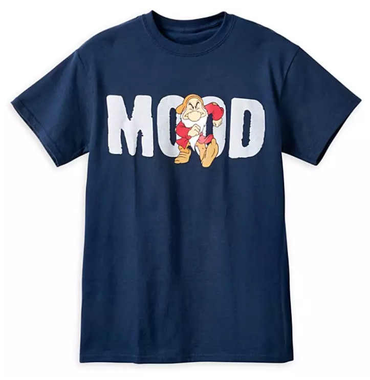 Disney T-Shirt for Adults - Grumpy Mood - Blue