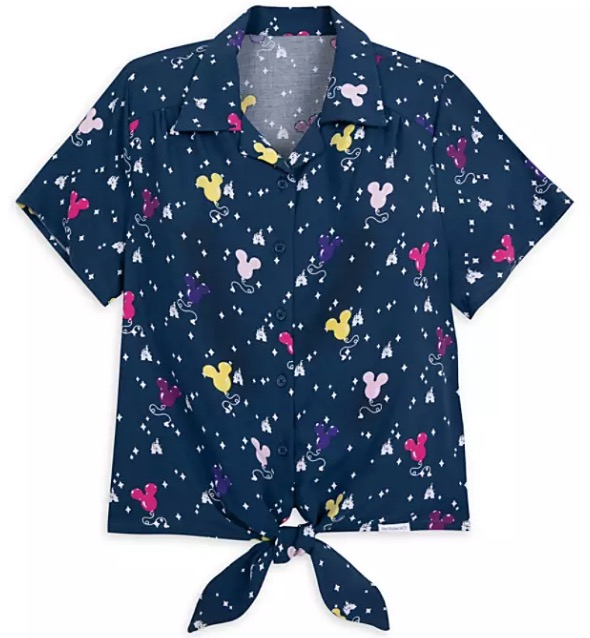 Disney Blouse for Women - Mickey Mouse Balloon - Blue