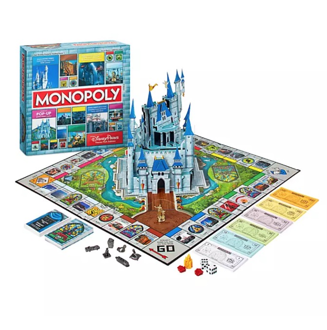 Disney Theme Park Edition Game - Disney Parks Monopoly