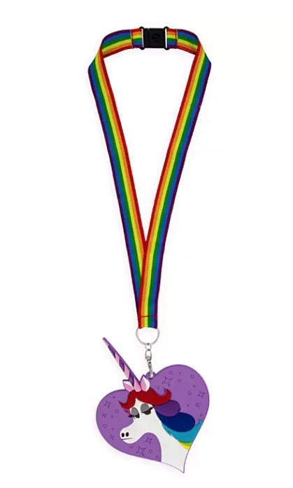 Disney ID Holder and Lanyard - Rainbow Unicorn - Inside Out
