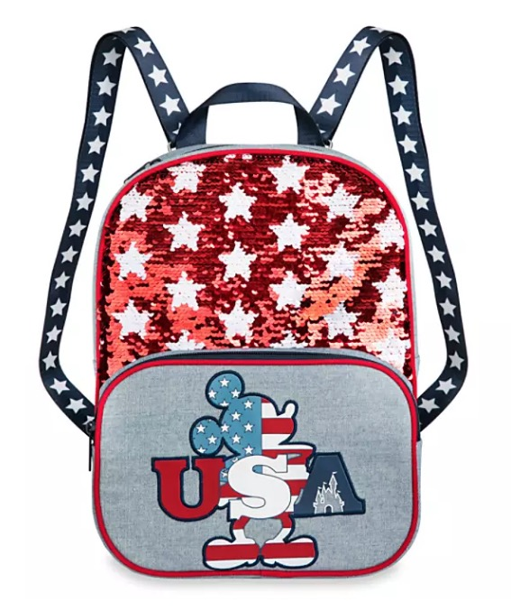 Disney Backpack Bag - Mickey Americana Reversible Sequin