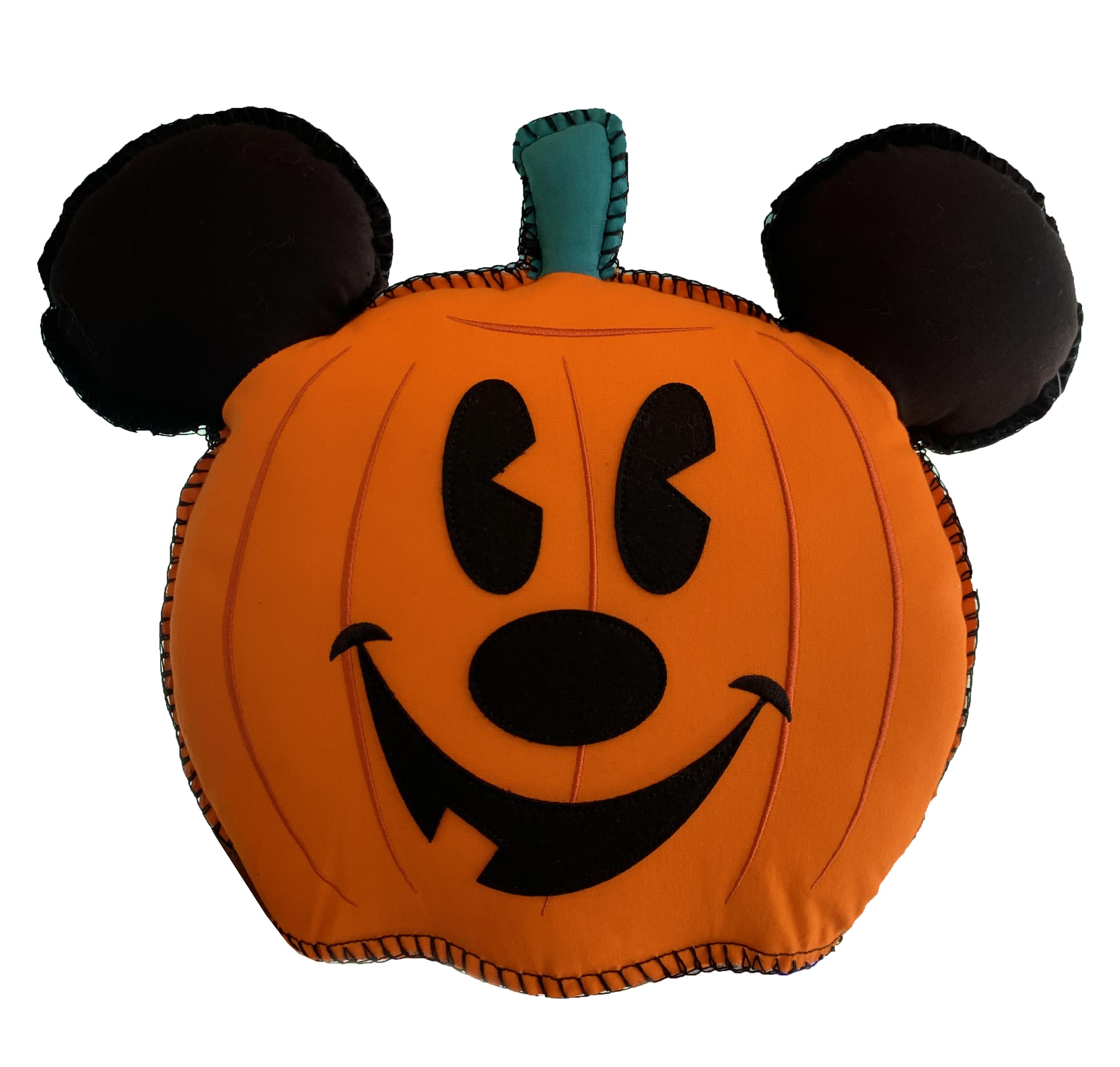 Disney Throw Pillow Halloween Mickey Mouse Pumpkin