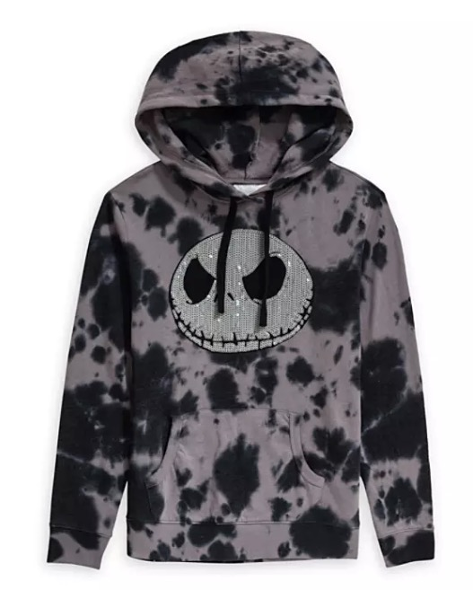 Disney Pullover Hoodie for Women - Jack Skellington Sequined - Tie-Dye