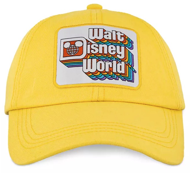 Disney Hat - Baseball Cap - Walt Disney World Logo - Yellow