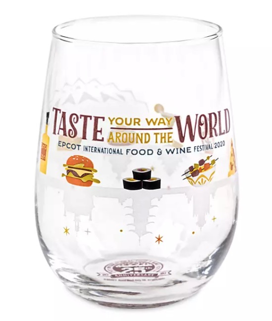 Disney Stemless Wine Glass - 2020 Epcot Food and Wine Festival