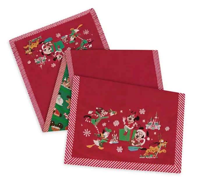 Disney Table Runner - Holiday Mickey and Friends - Reversible