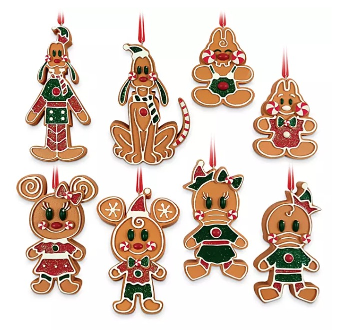 Disney Ornament Set - Mickey and Friends Gingerbread Men Cookie