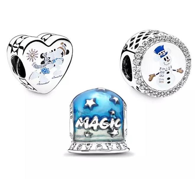 Disney Pandora Charm Set - 2020 Holiday Mickey & Minnie - Silver & Gold