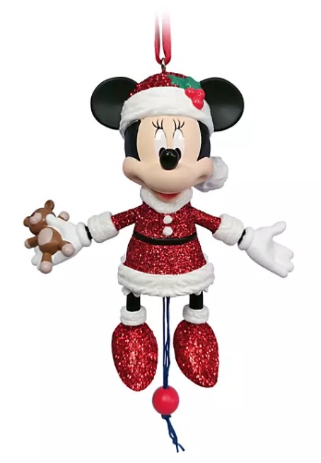 Disney Figurine Ornament - Santa Minnie Mouse Articulated