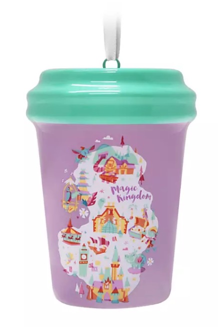 Disney Starbucks Ornament - Magic Kingdom Cup - Purple