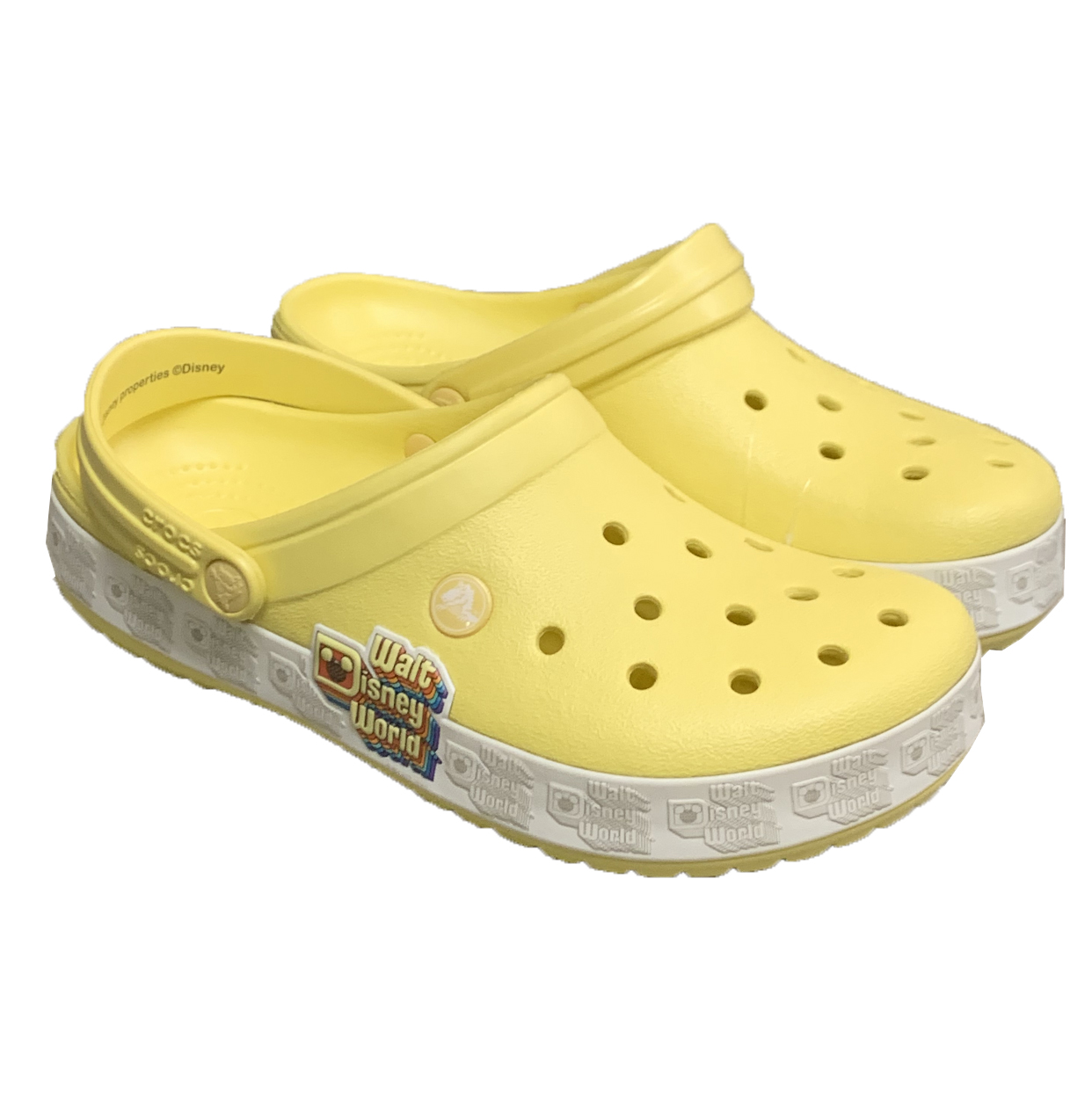 Disney Crocs for Adults - Walt Disney World - Yellow