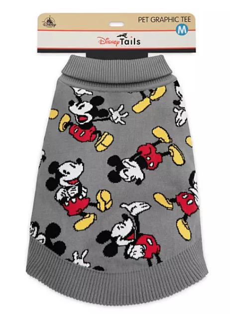Disney Sweater for Dogs - Mickey Mouse - Gray