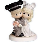 Disney Precious Moments Figurine - Bride and Groom - Wedding