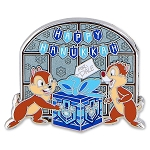 Disney Holiday Pin - Chip 'n Dale - Happy Hanukkah