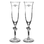 Disney Arribas Glass Flutes - Wedding Bells - Walt Disney World