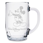 Disney Arribas Glass Mug - Mickey Mouse - Walt Disney World - Large