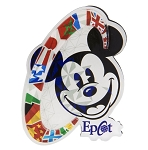 Disney Magnet - Epcot  Mickey Mouse with Flags