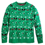 Disney Adults Holiday Sweater - Mickey Mouse ''Ugly'' Sweater - Green