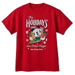 Disney Adult T-Shirt - Mickey Mouse Holiday - Walt Disney World - Red
