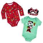 Disney Baby Bodysuit Set - Minnie Mouse Holiday - Walt Disney World