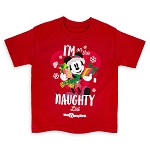 Disney Shirt for Toddlers - Santa Mickey Mouse Holiday - Naughty List