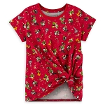 Disney Holiday T-Shirt for Girls - Mickey Mouse and Friends Knotted