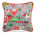 Disney Holiday Throw Pillow - Mickey and Friends - Nordic Winter