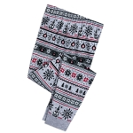Disney Pajama Pants for Kids - Holiday Mickey Mouse Fair Isle - Gray