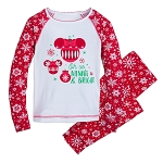 Disney Pajamas for Girls - Holiday Minnie Snowflake - Minnie & Bright