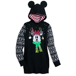 Disney Holiday Sweater Dress for Women - Minnie Mouse Reindeer - Black
