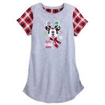 Disney Nightshirt for Women - Mickey Mouse Holiday - Happy Jolly Merry