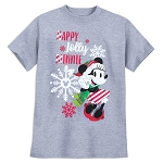 Disney Girls Shirt - Minnie Mouse Holiday - Happy Jolly Minnie - Gray
