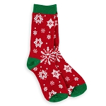 Disney Holiday Socks for Women - Mickey Snowflake with Ornament