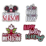 Disney Holiday Pin Set - Mickey Mouse Icon Quotes - Set of 4