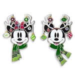 Disney Holiday Pin Set - Mickey and Minnie Mouse Reindeers