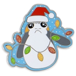 Disney Holiday Pin - Santa Porg - Star Wars The Last Jedi