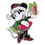 Disney Holiday Pin - Santa Minnie Mouse with Gift