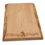 Disney Cheese Board - Holiday Santa Mickey Mouse - Wood