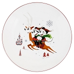 Disney Dinner Plate - Mickey and Minnie Mouse Holiday - Reindeer