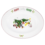 Disney Serving Platter - Santa Mickey Mouse and Friends Holiday